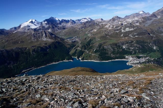 Aiguille de la grande sassiere saut - Lac du chevril ...